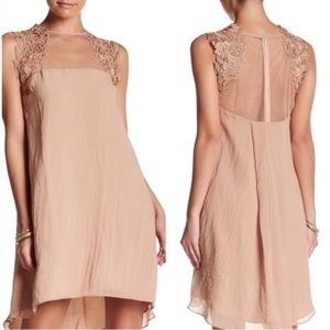 Dress the Population High Low Nude Dress S